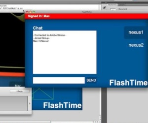 Adobe demos FlashTime video calling