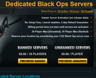 Treyarch to charge for Black Ops dedicated servers
