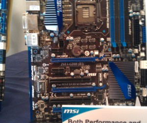 Intel Z68 Board on Show at MSI MOA 2011