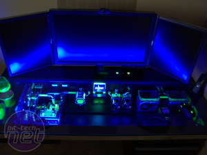 Amazing water-cooled PC in a desk