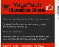 Enter YoyoTech Facebook competition and win games