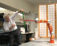 Kinect used to create sword-fighting robot