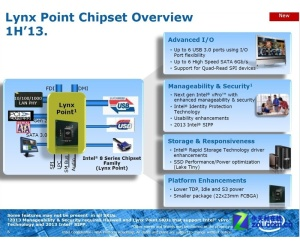Intel's Haswell Lynx Point chipset details leak