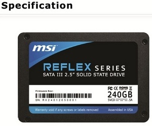 MSI Reflex SSD details leak ahead of launch
