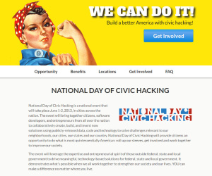 White House announces National Day of Civic Hacking