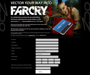 OCZ bundles Far Cry 3 with Vector SSDs