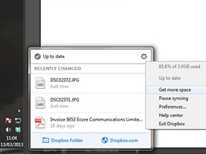 Dropbox 2.0 update adds one-stop menu