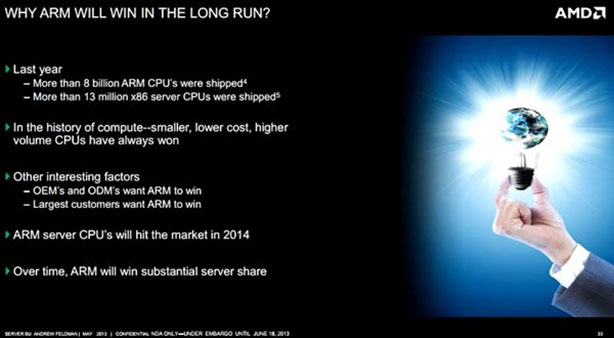 AMD to launch ARM processor, Seattle, in 2014