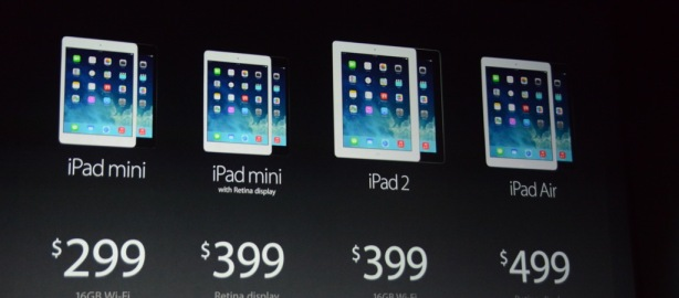 Apple iPad Air and new Retina iPad mini unveiled