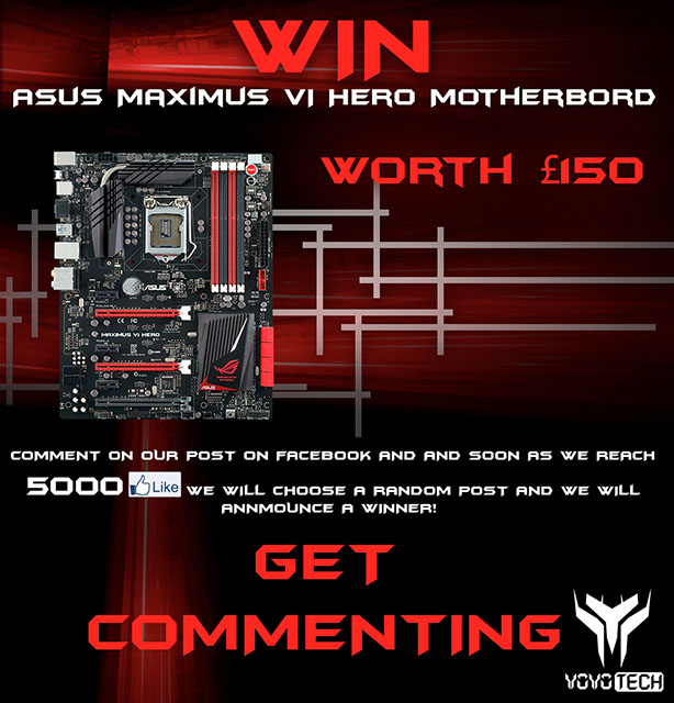 Win an Asus Maximus VI Hero Motherboard with YoYoTech Win an Asus Maximus VI Hero Motherboard