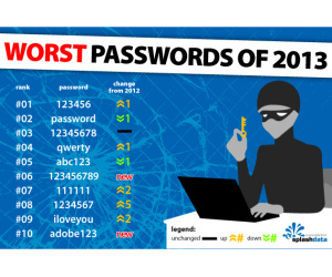 Worst password of 2013 named as '123456'
