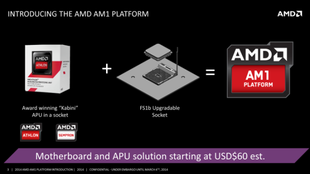 AMD announces AM1 platform: socketed Kabini