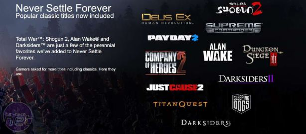 AMD updates its Never Settle Forever bundle *AMD updates its Never Settle Forever bundle