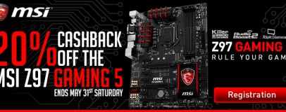 MSI UK Offering Free Corsair H75 Cooler And Cashback With Z97 Gaming Boards