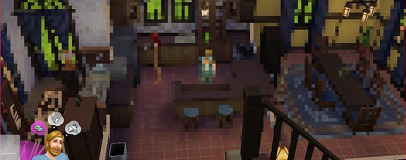 Sims 4 pirates attacked by pixels