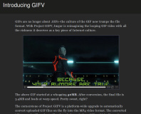 Imgur announces MP4-based GIFV Project