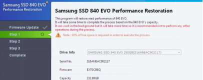 Samsung releases 840 Evo performance fix tool