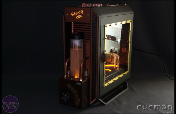 Steampunk case mod completed using BeQuiet!'s new PC case