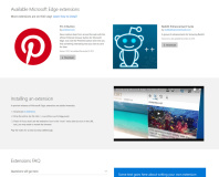 Microsoft Edge extensions leak ahead of launch