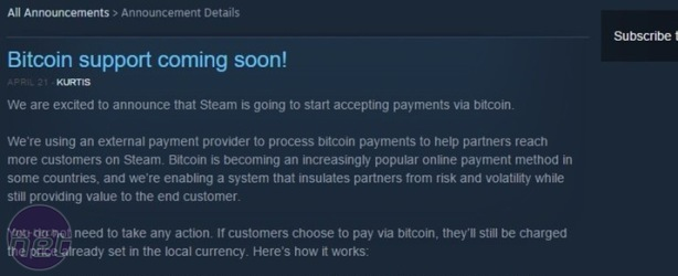 Rumour: Could Steam soon be accepting Bitcoin?