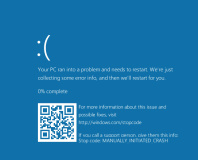 Microsoft adds QR codes to Windows 10's BSOD