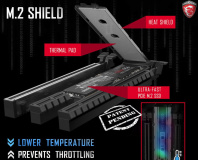 MSI shows off new M.2 Shield SSD heat spreader