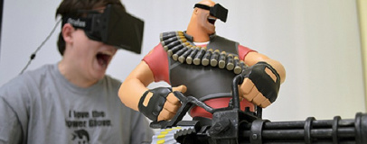Valve working on three VR titles, says Newell