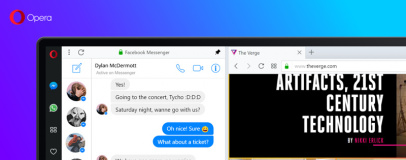 Opera gets chat features in Reborn release